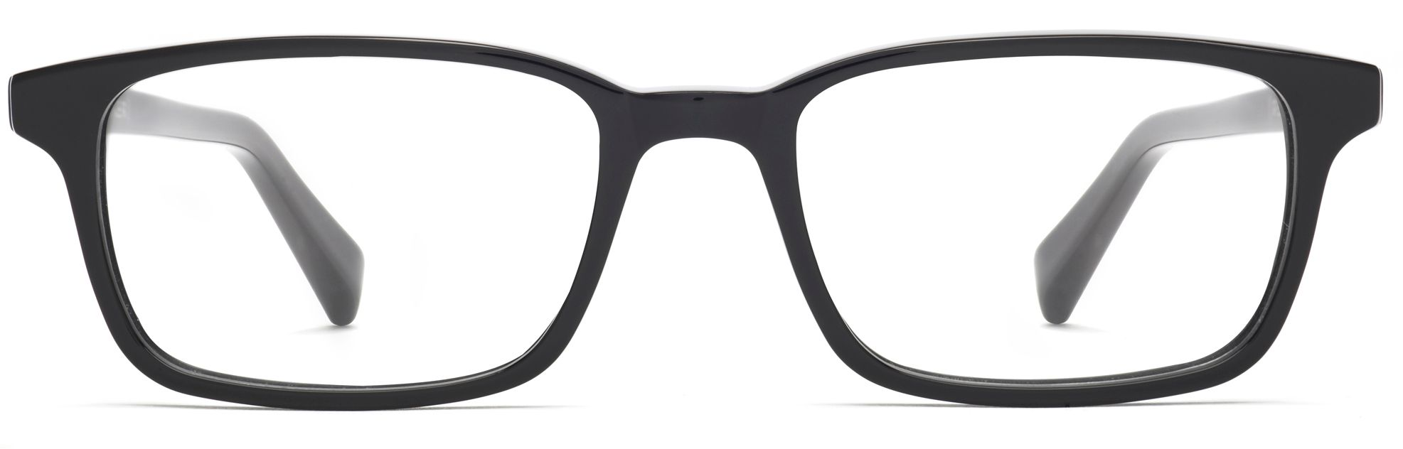 crane eyeglasses in jet black for men warby parker