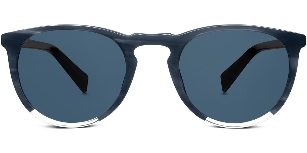 Warby Parker Sunglasses - Haskell in Striped Pacific With Crystal