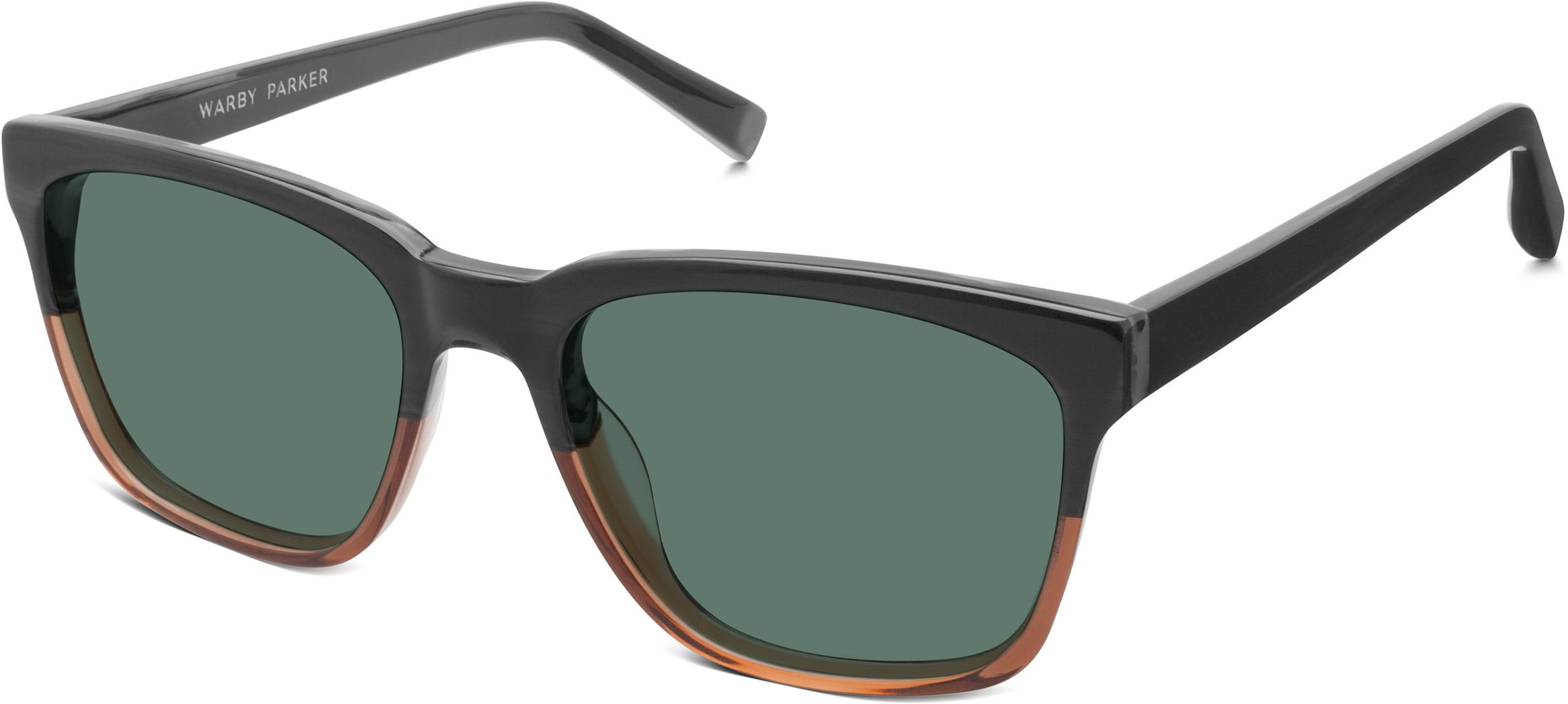 eb1470de82 Barkley Sunglasses in Antique Shale Fade with Green Grey lenses for Men