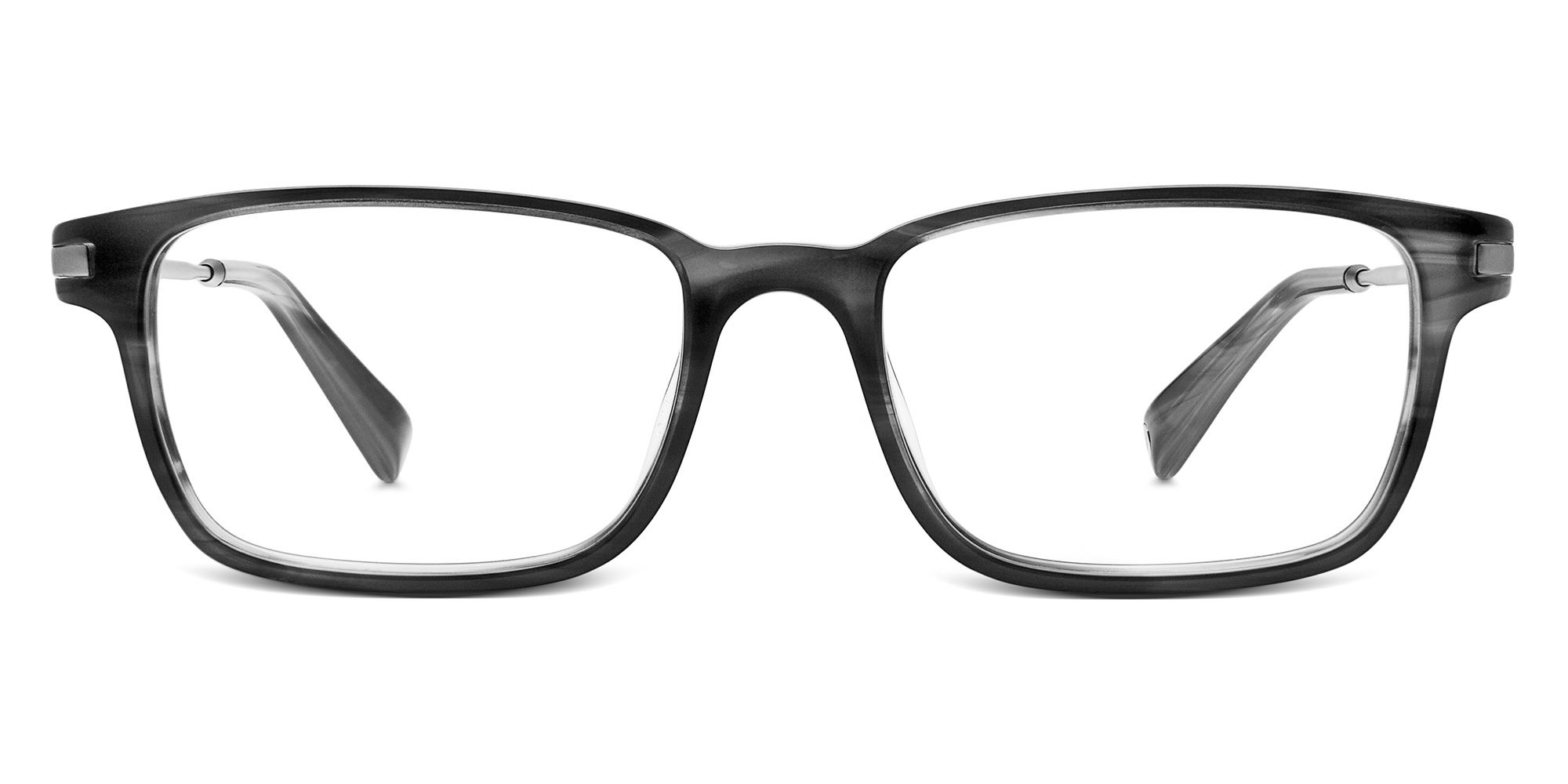Warby Parker Crane Ti Eyeglasses in Newsprint Grey for Men