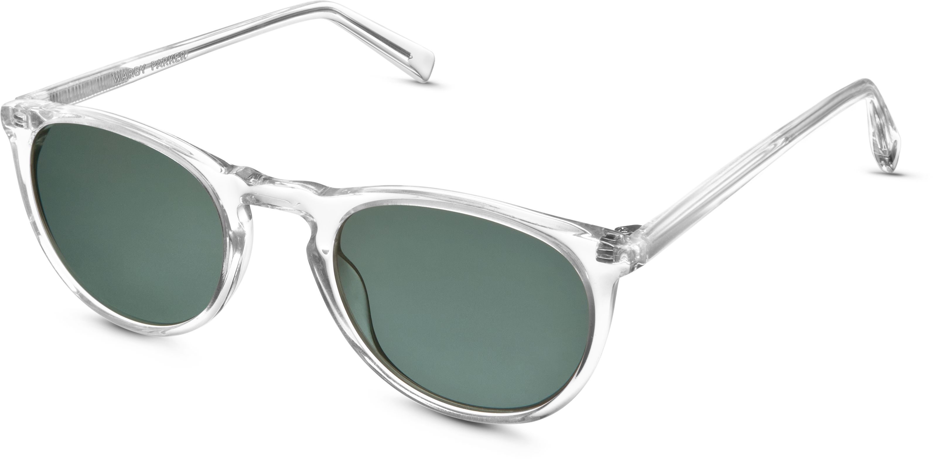 523a10b400 Haskell Sunglasses in Crystal with Green Grey lenses for Men