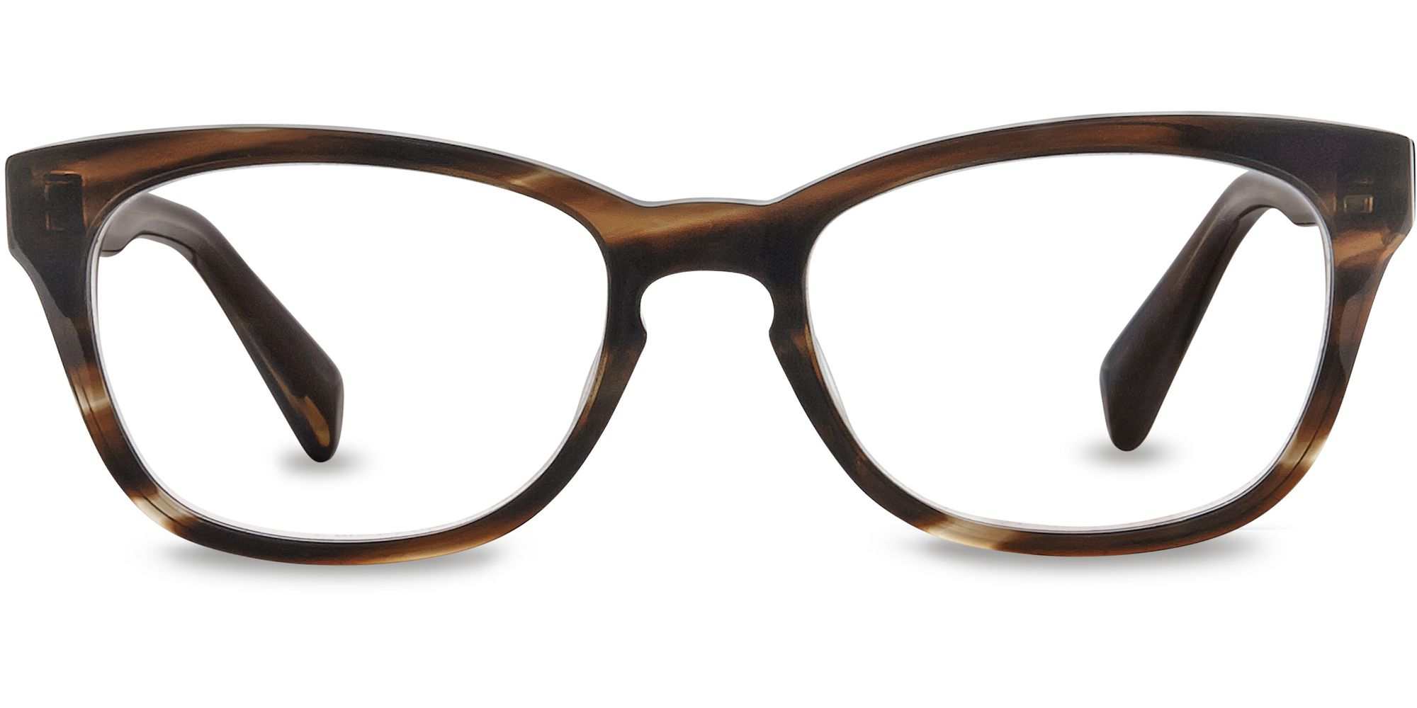 Warby Parker Finch Eyeglasses in Striped Molasses for Women