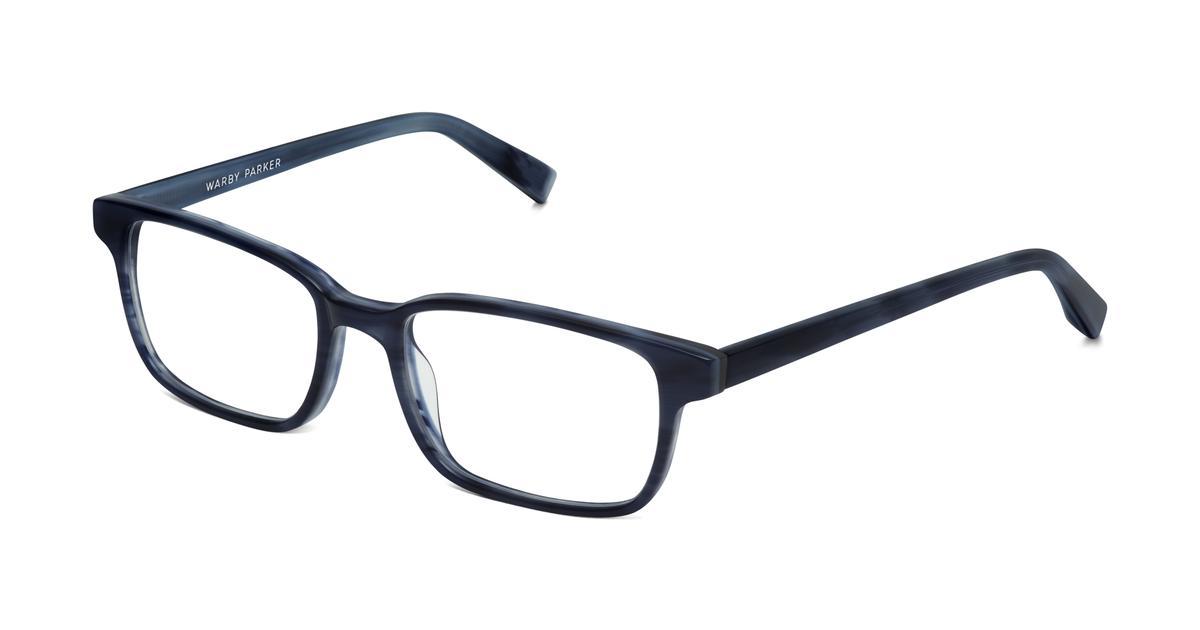 crane eyeglasses in atlantic blue for warby