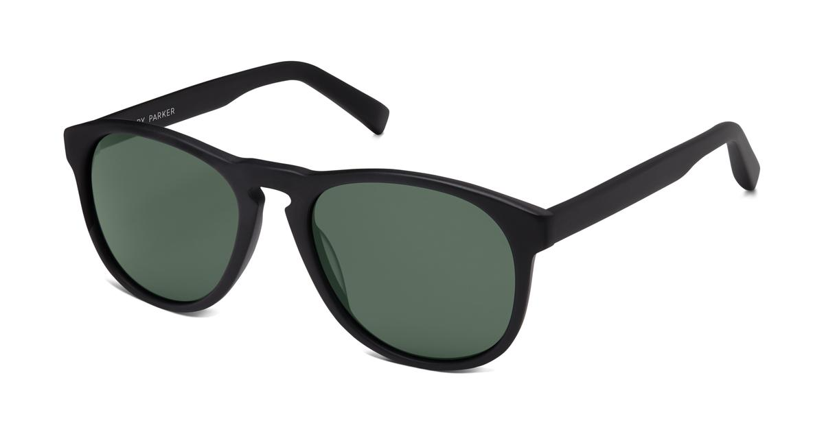 Griffin Sunglasses in Jet Black Matte with Green Grey lenses for Men ...