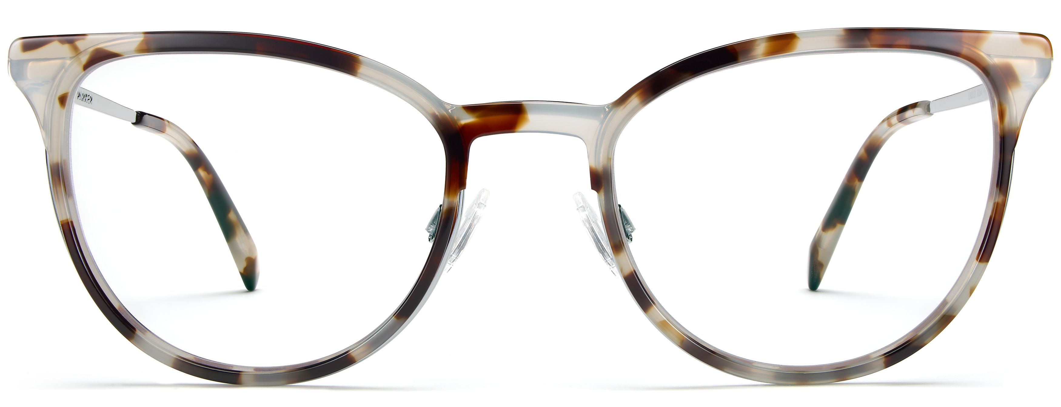 warby parker lindley pearled tortoise with lilac silver