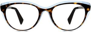 Ashby in cognac tortoise and bermuda blue