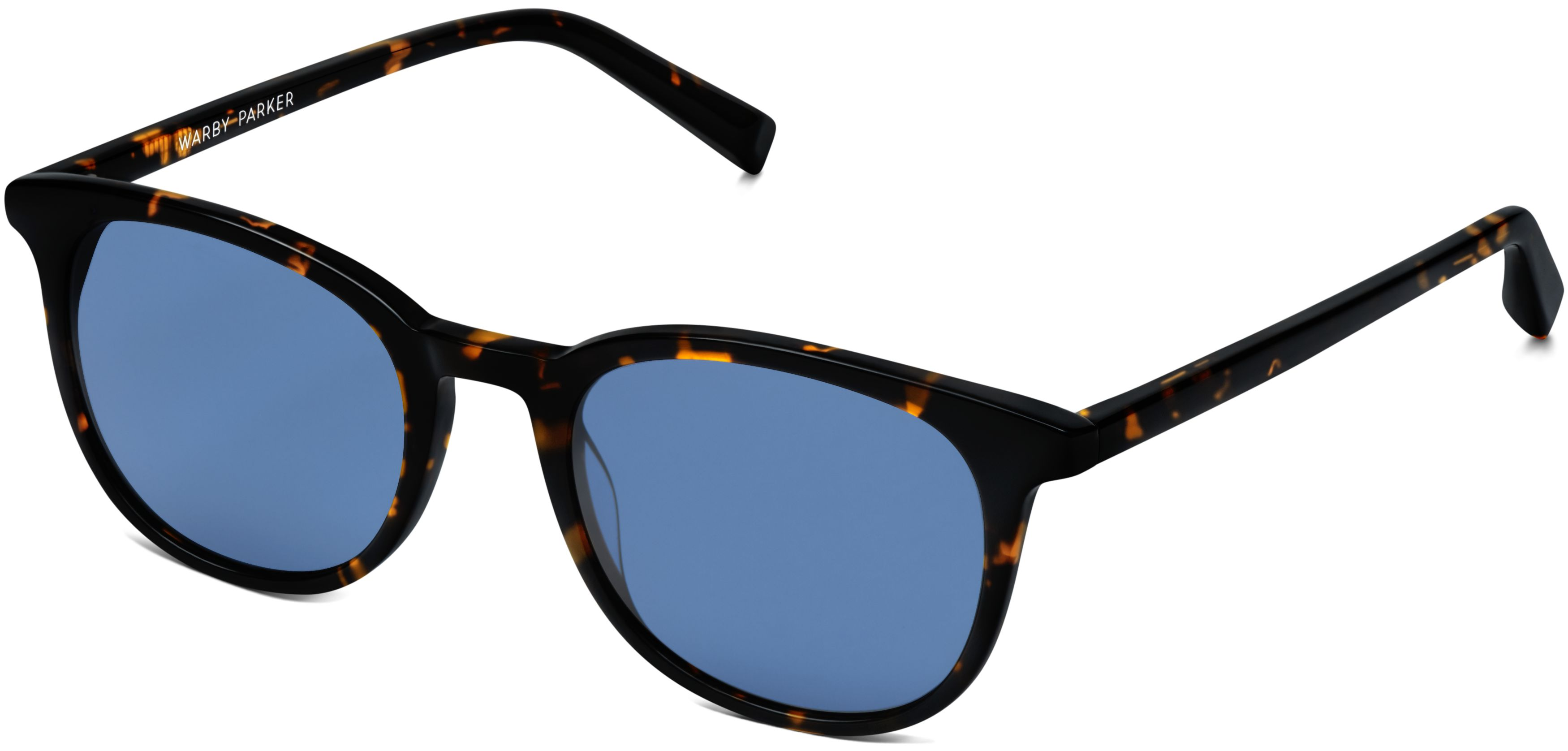 Durand Sunglasses in Whiskey Tortoise with Classic Blue lenses for Men |  Warby Parker