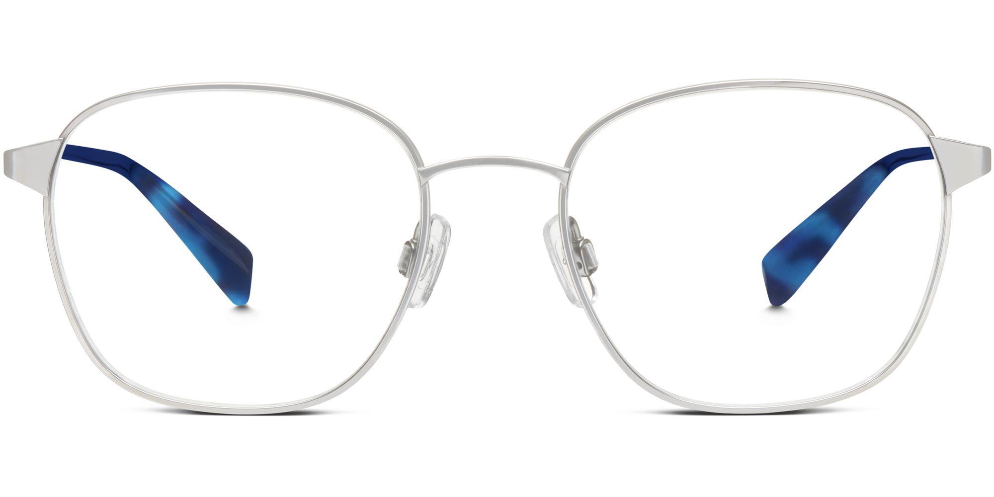 Warby Parker Nesbit Eyeglasses in Jet Silver for Women