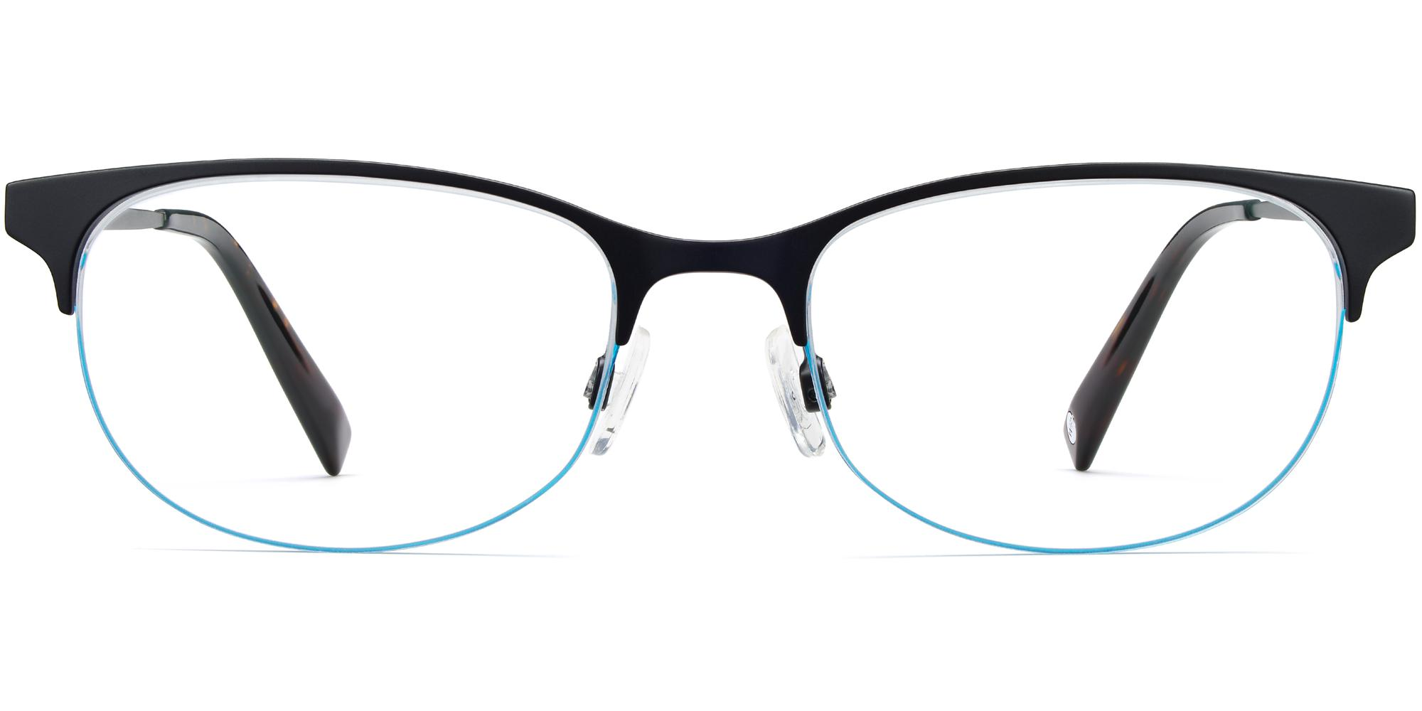 warby parker clare brushed ink