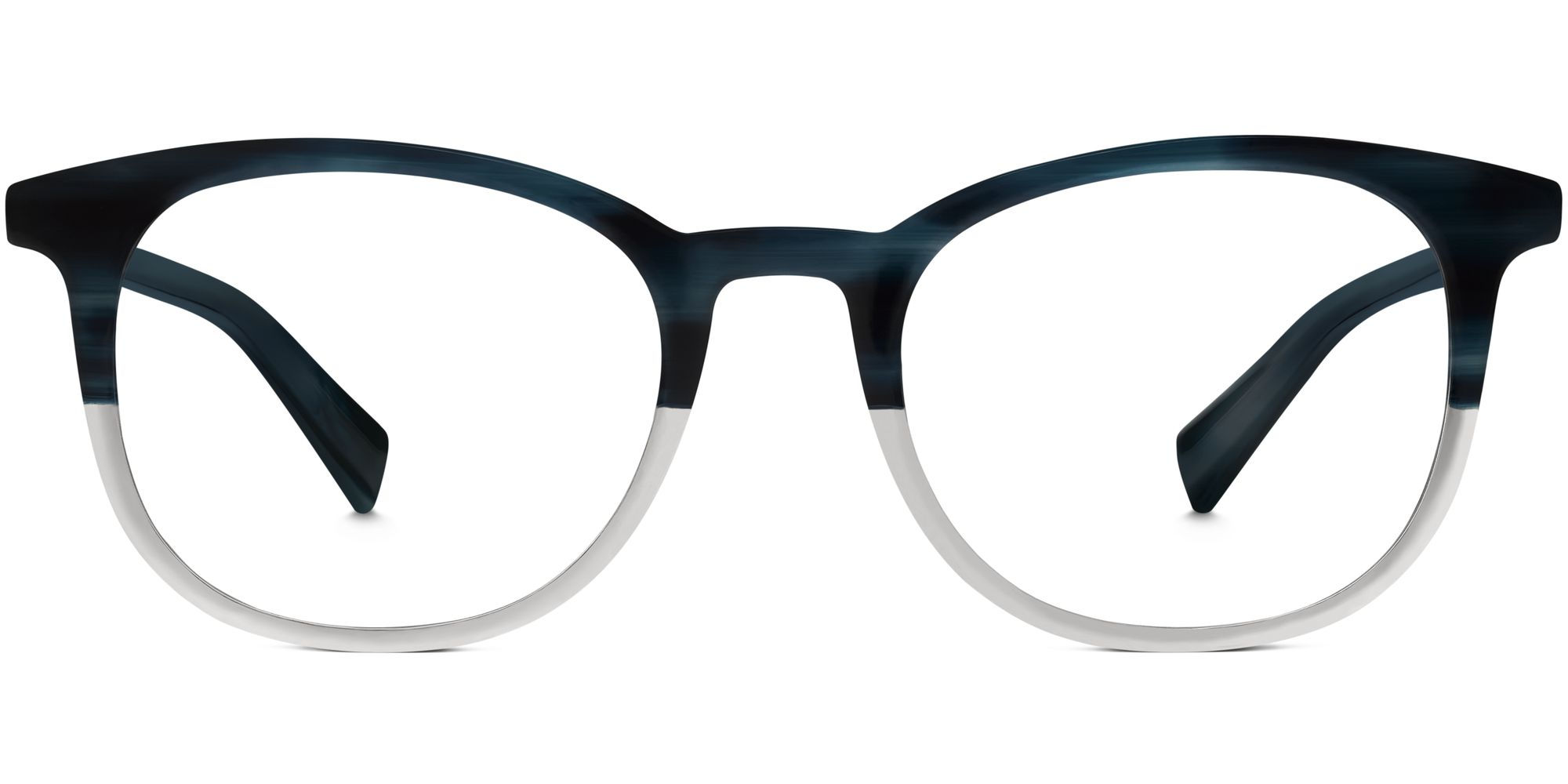 Warby Parker Durand Eyeglasses in Deep Sea Blue Fade for Men