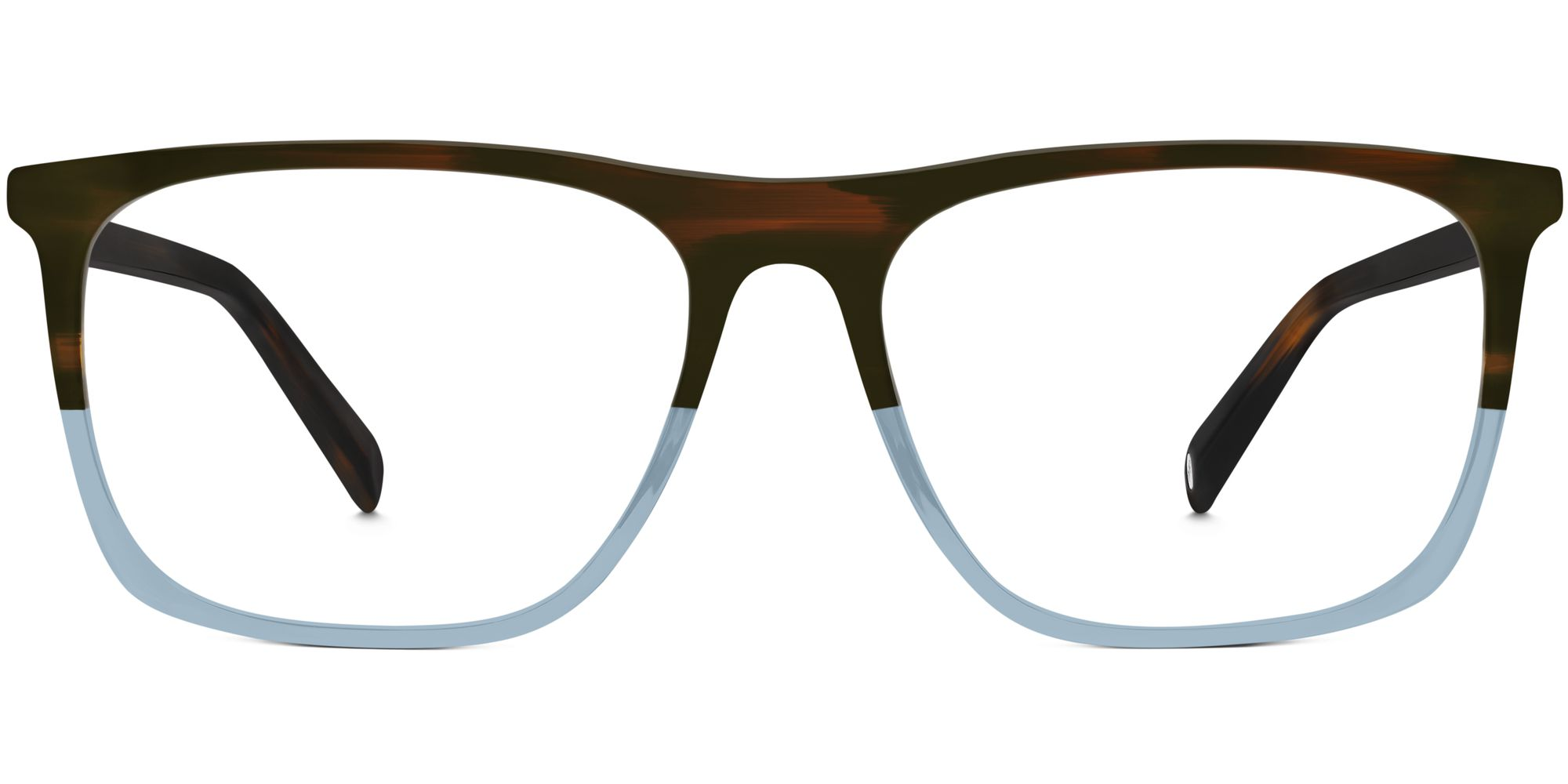 Warby Parker Fletcher Frames with Light Blue