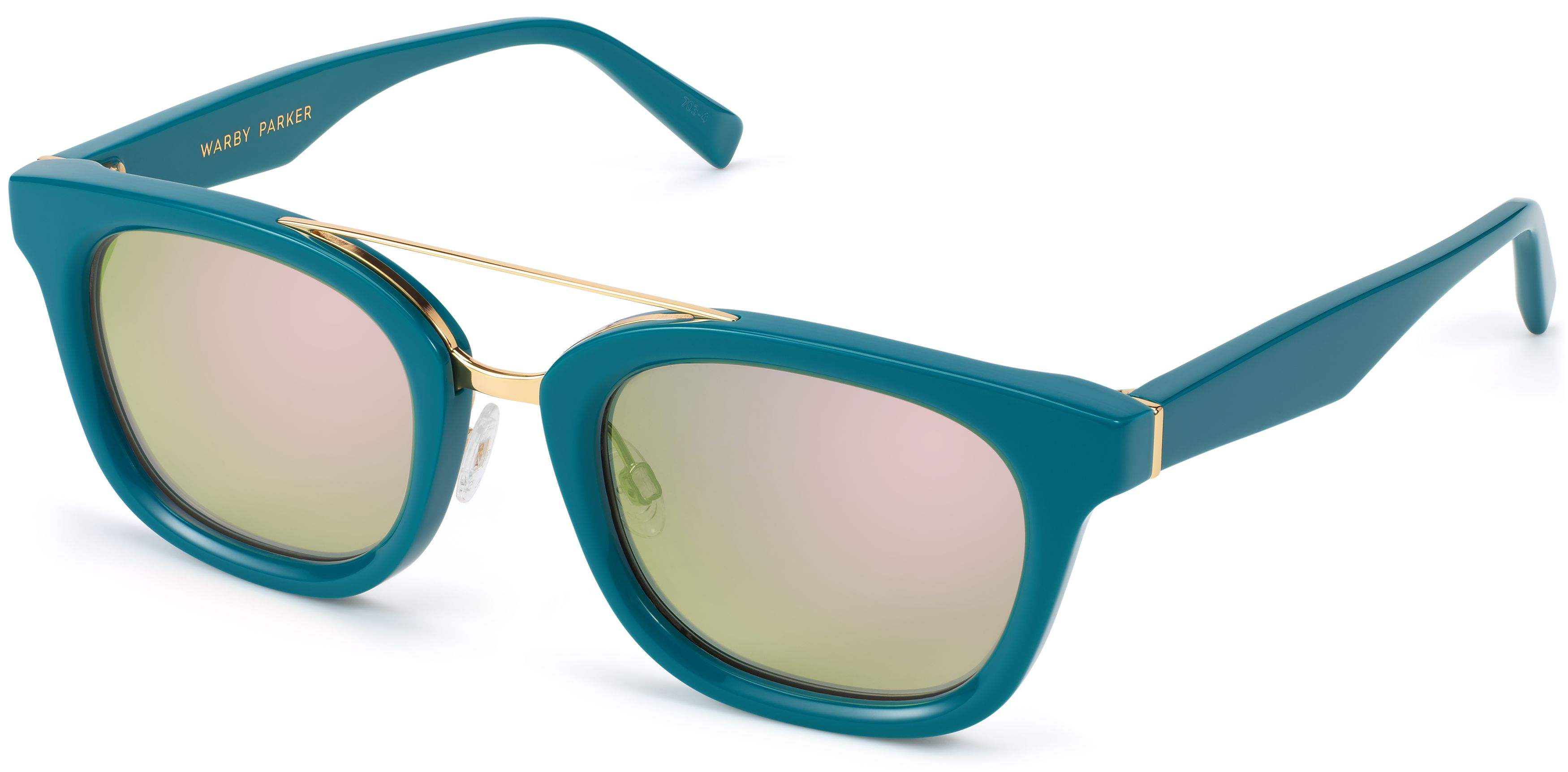 547e8cfb87c1 Yates Sunglasses in Peacock with Flash Mirrored Electric Green lenses for  Women