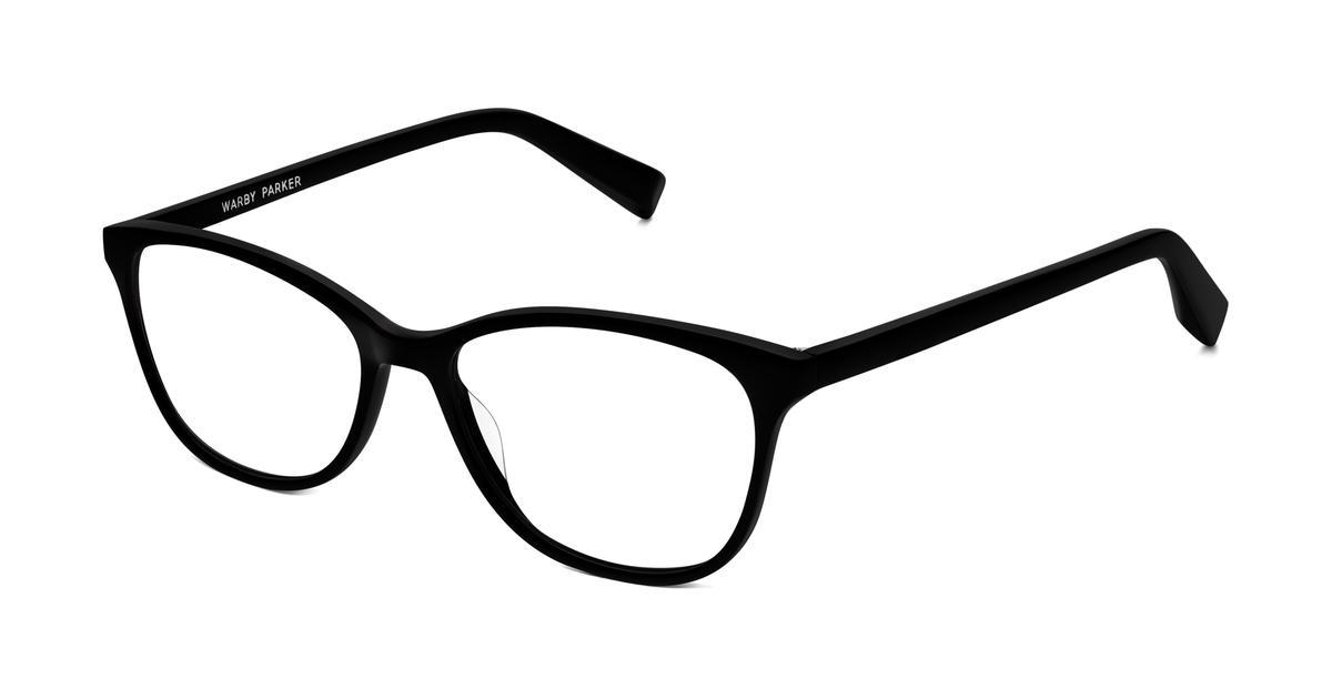 Warby Parker Daisy Eyeglasses in Jet Black for Women