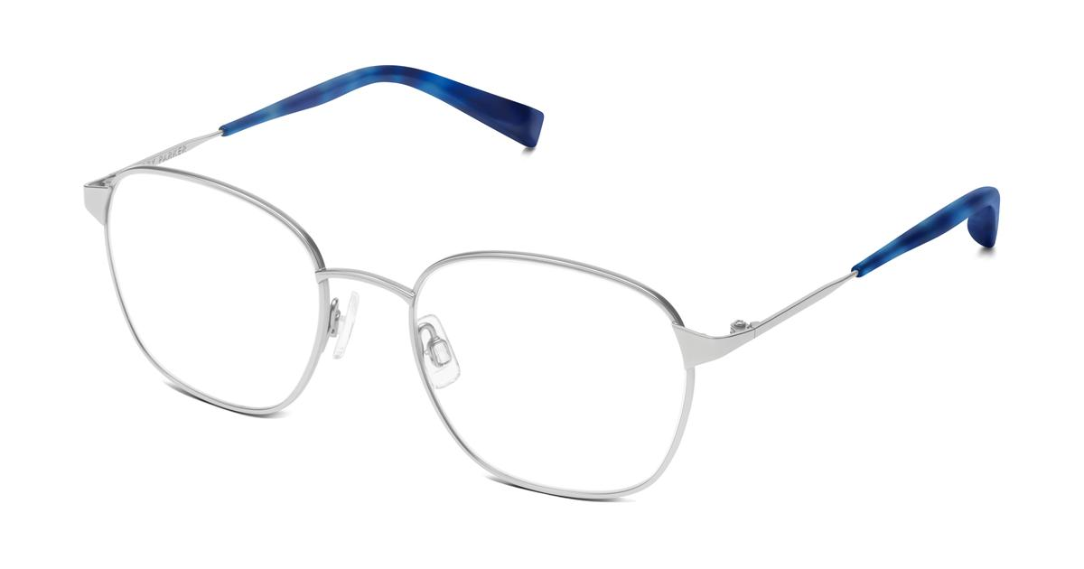 Warby Parker Nesbit Eyeglasses in Jet Silver for Women