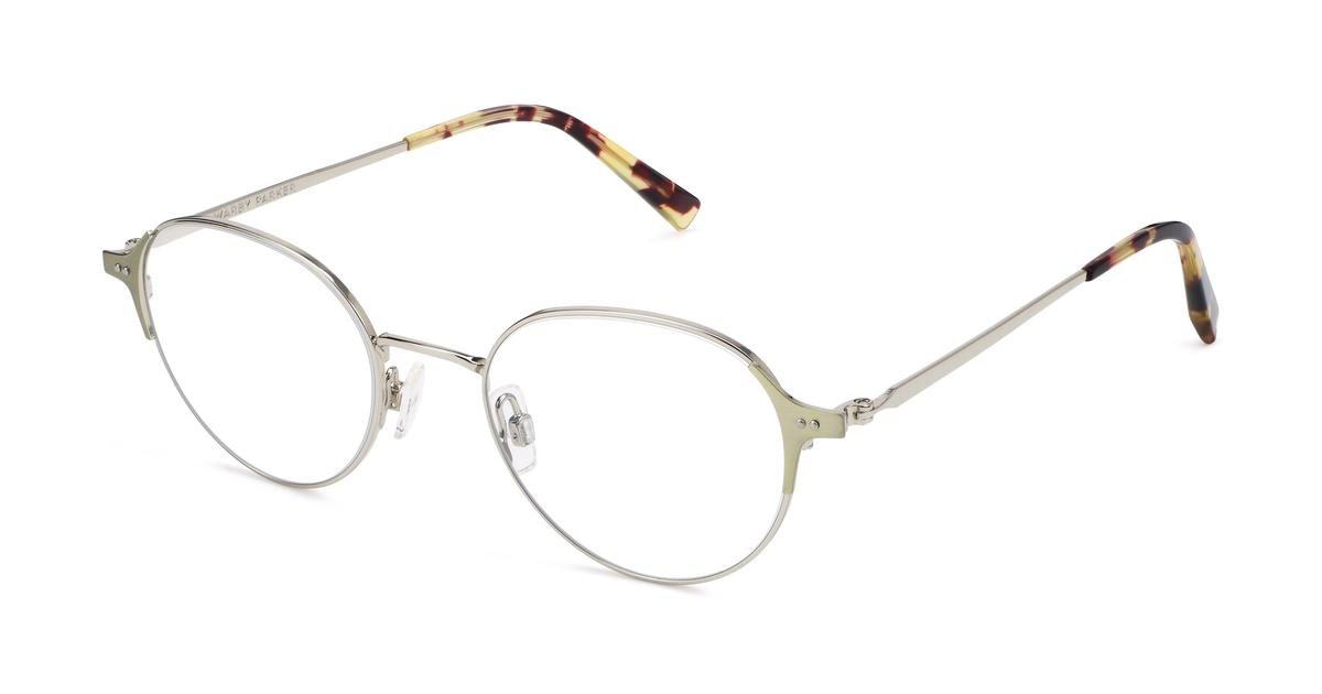 0a0914467e Cole Eyeglasses in Polished Silver With Riesling for Women