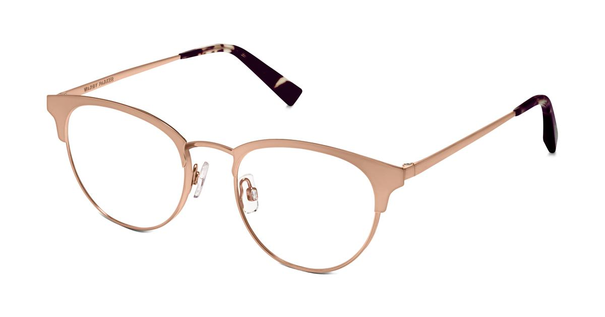 Blair Eyeglasses in Rose Gold for Women Warby Parker