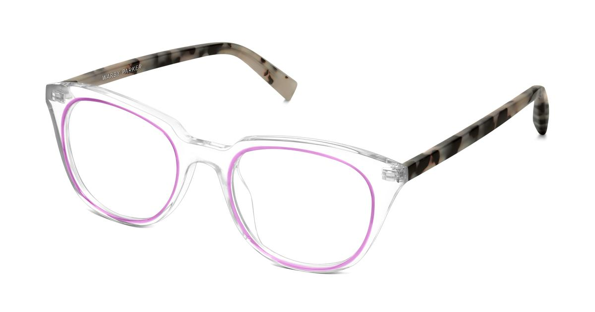 chelsea eyeglasses in and plum with onyx tortoise