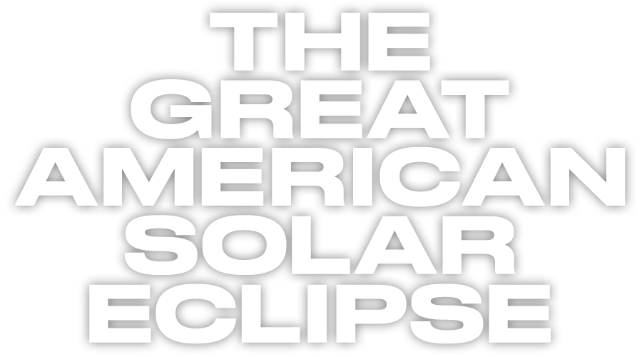 Text saying the Great American Solar Eclipse